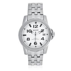 Relógio Masculino Magnum MA33022Q Fundo Prateado