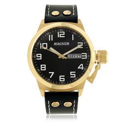 Relógio Masculino Magnum MA32756U Dourado fundo preto