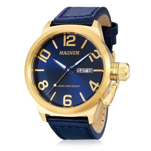 990a2e701b2 Relógio Masculino Magnum MA33399A Couro Azul