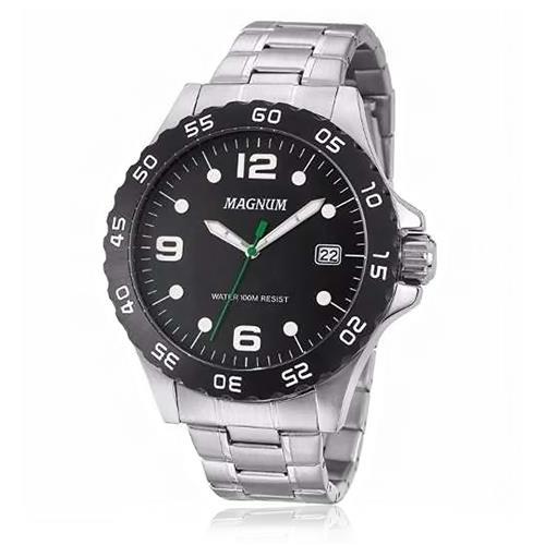 Relógio Masculino Magnum Analógico MA34389D Fundo Preto