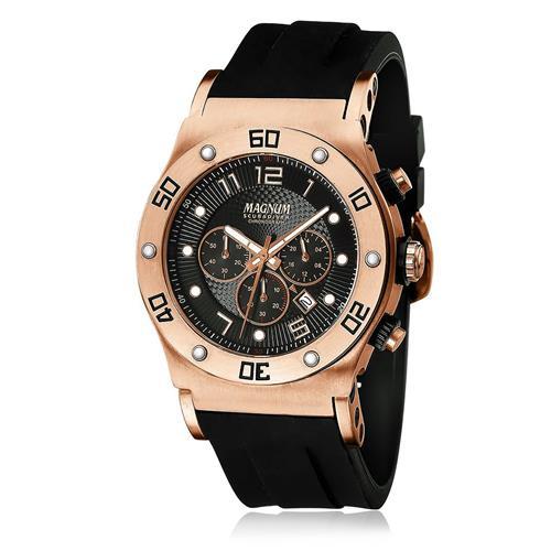 68727d04c73 Relógio Masculino Magnum ScubaDiver MA30936P Aço Rose 3484