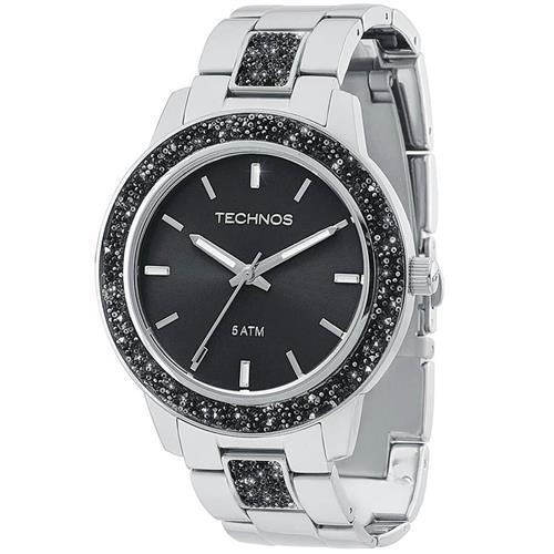 a301a775130 Relógio Feminino Technos Crystal Analógico 2035MFE 1P Fundo Preto ...