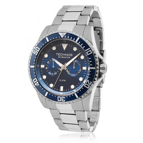 9dec835f803 Relógio Masculino Technos Performance Skymaster 6P25BG 1A Fundo Azul
