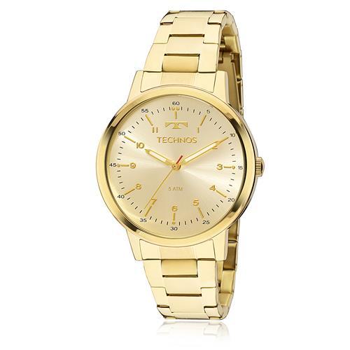 Relógio Feminino Technos Elegance Dress 2035MFN 4D Dourado ff56b84b2e