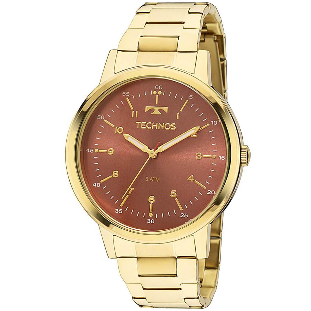 56507e70aa12c Relógio Feminino Technos Elegance Dress 2035MFN 4R Fundo Bronze