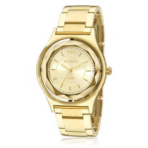 b18be97fded Relógio Feminino Technos Crystal 2035MIC 4X Dourado
