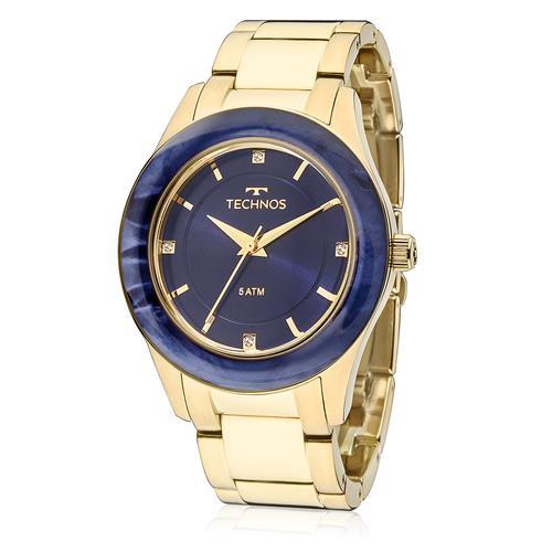 Relógio Feminino Technos Elegance St. Moritz 2036MGK/4A Fundo Azul
