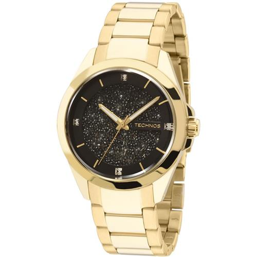 ab05089d0cd Relógio Feminino Technos Elegance Crystal 203AAA 4P Fundo Preto