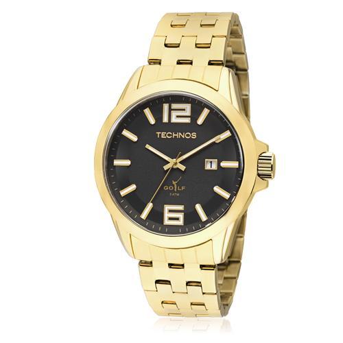 Relógio Masculino Technos Classic Golf 2115KLV/4P Fundo Preto