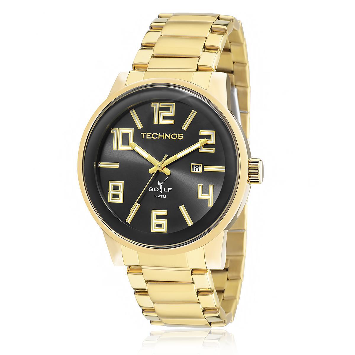 24599c2da08 Relógio Masculino Technos Classic Golf 2115KQU 4C Dourado