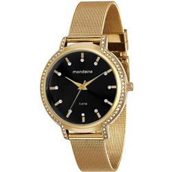 Relógio Feminino Mondaine Analógico 76508LPMGDE5 Fundo Preto