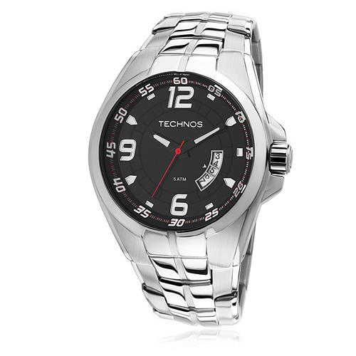Relógio Masculino Technos Racer 2115KSW/1R Fundo Preto