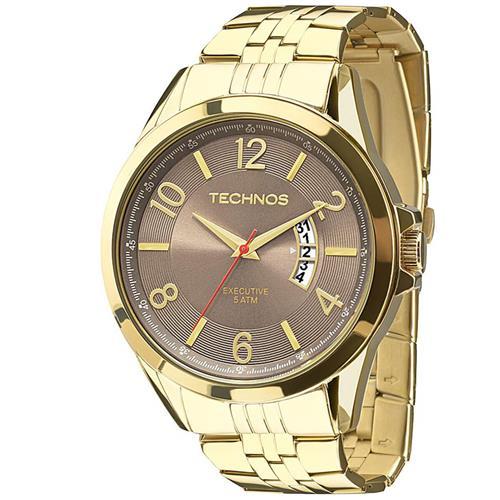 Relógio Masculino Technos Analógico 2115KTH 4M Dourado 2e1d8f855b