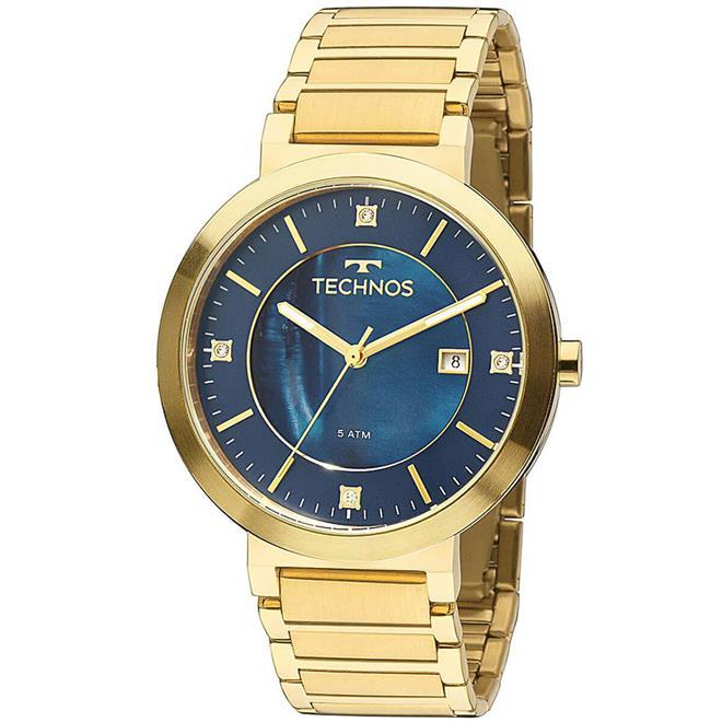 d47e82f748b Relógio Feminino Technos Elegance St. Moritz 2115KTJ 4A Fundo Azul