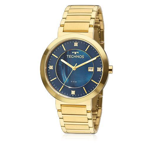 Relógio Feminino Technos Elegance St. Moritz 2115KTJ/4A Fundo Azul
