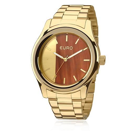 Relógio Feminino Euro Madeira Fashion Analógico EU2036MAA/4D Dourado
