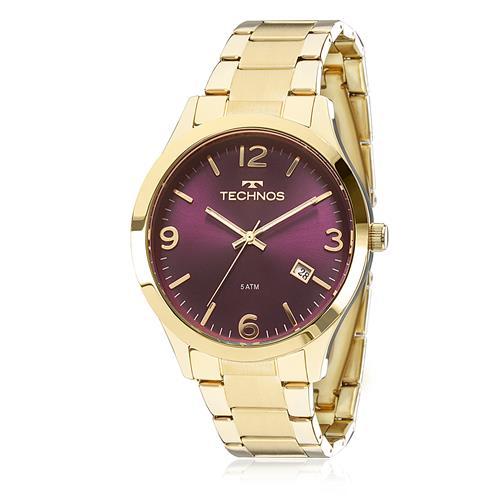 12920bb4998 Relógio Feminino Technos Elegance Dress 2315ACD 4N Fundo Vinho