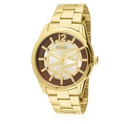 99745bb5f5e Relógio Feminino Euro Triangular Analógico EU2036LYB 4K Dourado