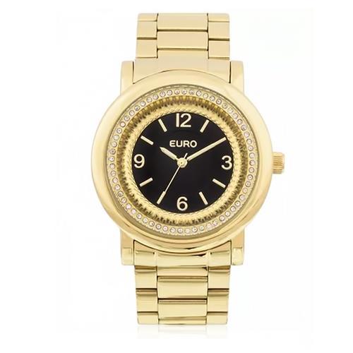 Relógio Feminino Euro Textura Mix Analógico EU2035YDW/4P Dourado com cristais