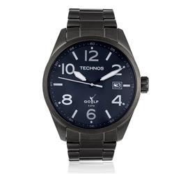 Relógio Masculino Technos Golf 2415CB 1C Aço Negro a703e3b6bb