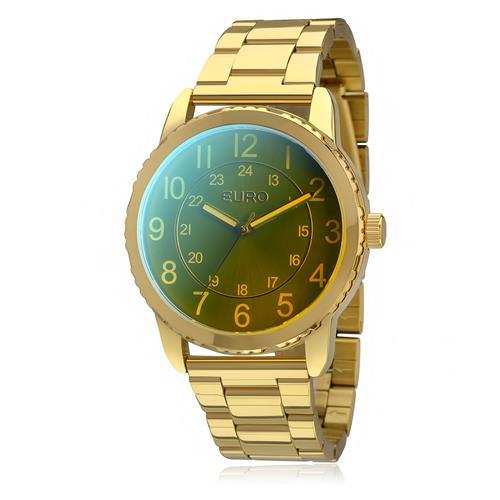 Relógio Feminino Euro Furta-cor Analógico EU2035YCM/4V Dourado