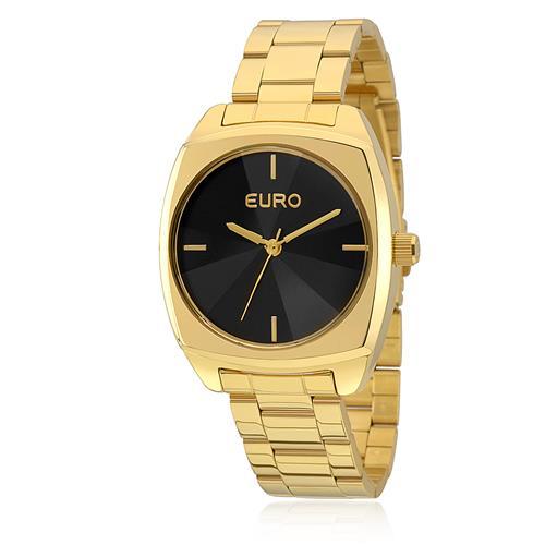 Relógio Feminino Euro Fumê Analógico EU2035YCF/4P Dourado