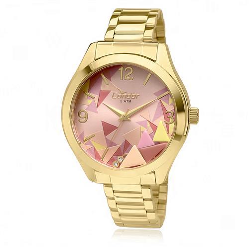 Relógio Feminino Condor por Anitta CO2036KOD 4T Fundo Rosa 4a5348651e