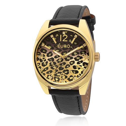 2c03f600d54 Relógio Feminino Euro Analógico EU2035XYX 2P Em couro