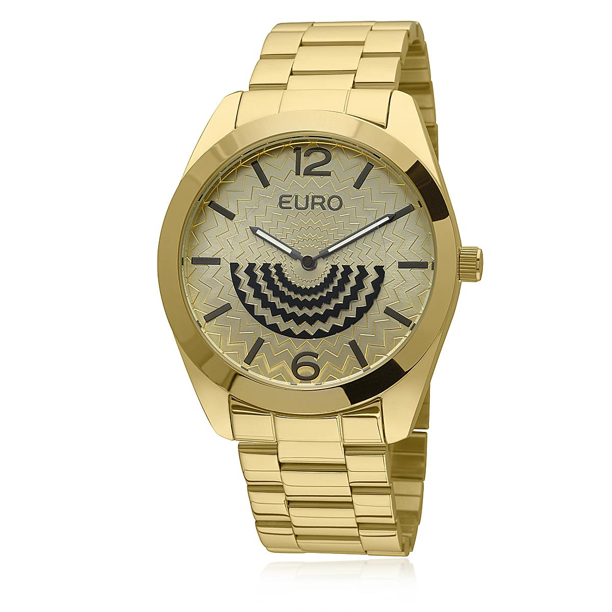 e94b91d74df Relógio Feminino Euro Fan Analógico EU2034AN 4D Dourado