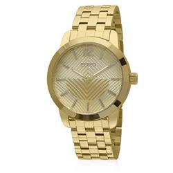 Relógio Feminino Euro Fan Analógico EU2034AJ/4D Dourado