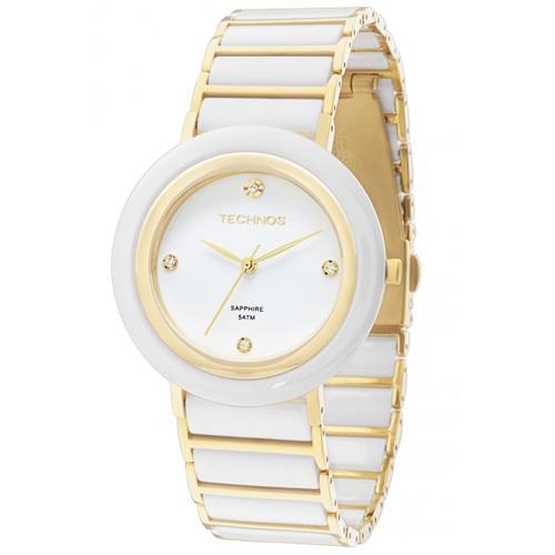 Relógio Feminino Technos Sapphire Analógico 2036LND/4B Cerâmica