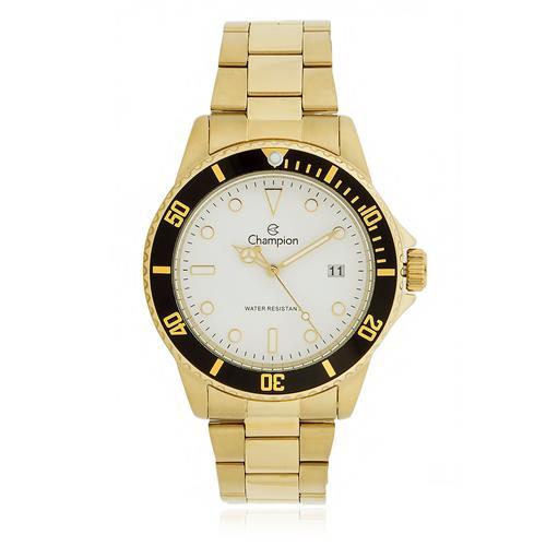 Relógio Masculino Champion CA31266H Dourado fundo branco