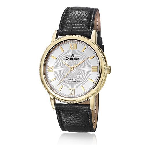 Relógio Feminino Champion CH22797H Couro Preto