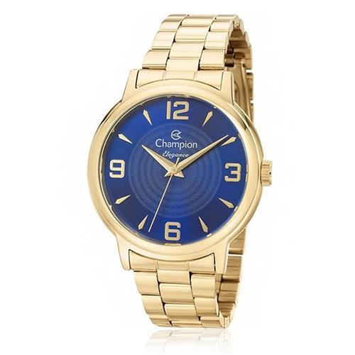 Relógio Feminino Champion Elegance CN26126A Fundo Azul