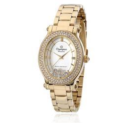16001c14a14 Relógio Feminino Champion Passion CN29838H Dourado com cristais