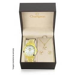 eccefe3c7f7 Relógio Feminino Champion Elegance CN28428W Kit Colar e Par de Brincos