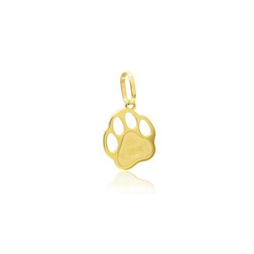 Pingente Patinha de Cachorro em Ouro Amarelo