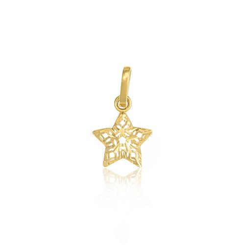 Pingente Estrela em ouro amarelo