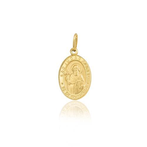 Pingente São Judas Tadeu em ouro amarelo