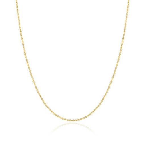 Corrente Malha Corda com 50 cm, em Ouro Amarelo