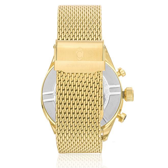 81274fe0aed Ampliar. Relógio Constantim Chronograph Sapphire Gold Black ZW20029U  Pulseira Esteira ...
