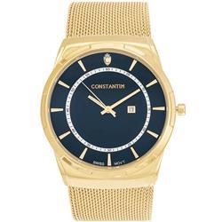 04f708c020f Relógio Constantim Gold Blue ZW20010A Pulseira Esteira
