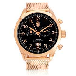 e0e5d29a94d Relógio Constantim Chronograph Sapphire Rose Black ZW20029P Pulseira Esteira