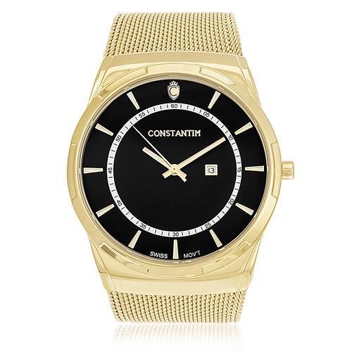 3bad6229ec2 Relógio Constantim Gold Black ZW20010U Pulseira Esteira