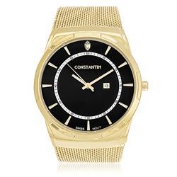 c1074967a1f Relógio Constantim Gold Black ZW20010U Pulseira Esteira
