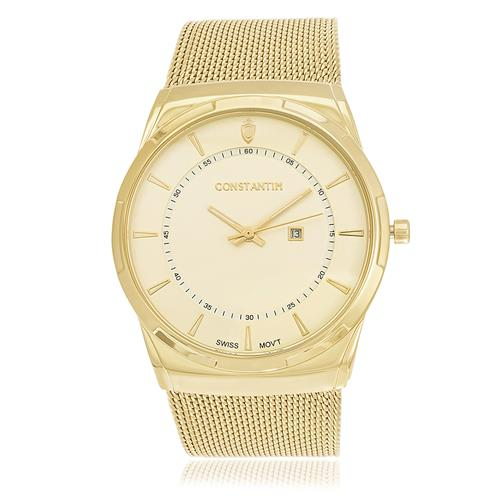 aa281b272320f Relógio Masculino Constantim Odense ZW20010G Gold