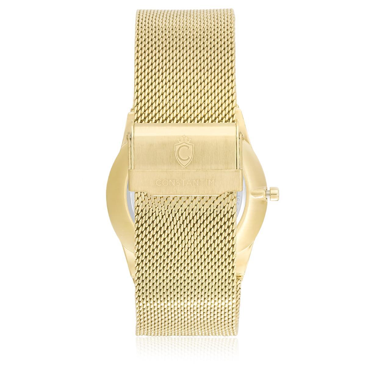 bca61faf329 Relógio Masculino Constantim Odense ZW20010G Gold