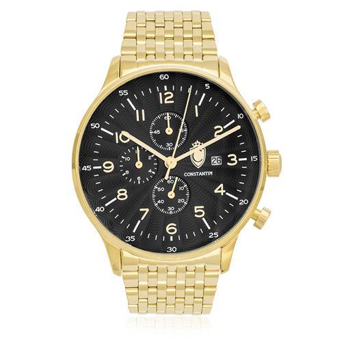 Relógio Masculino Constantim Analógico ZW20038U Gold Black