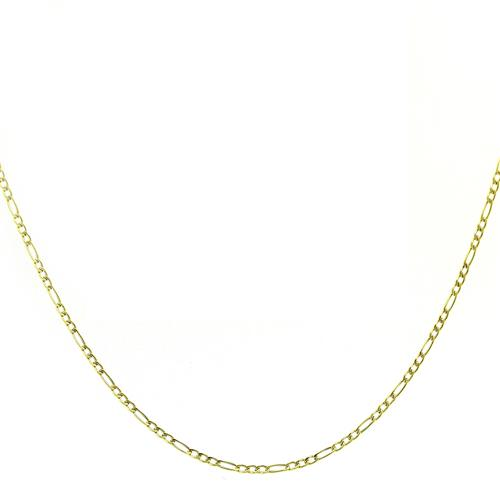 Corrente Elos Ovais com 45 cm, em Ouro Amarelo
