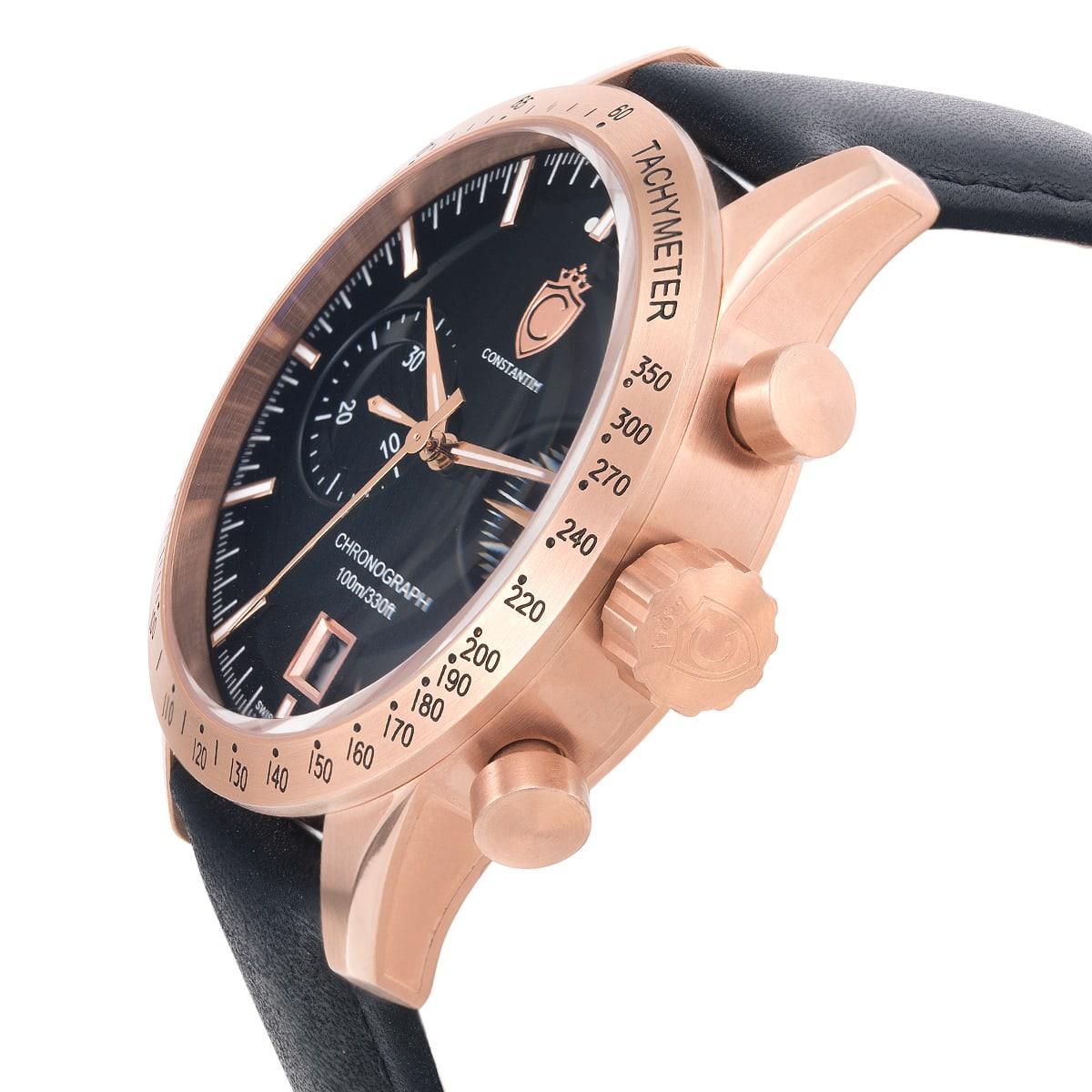 9b3e559e026 Relógio Constantim Diplomat First Class Sport Rose Black ZW30223P Couro